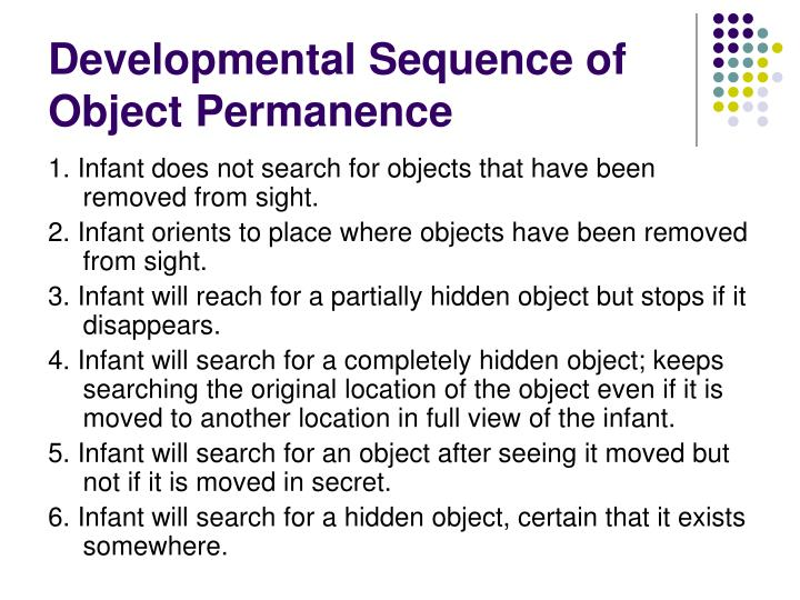 Developmental Sequence of