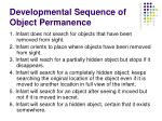 developmental sequence of object permanence