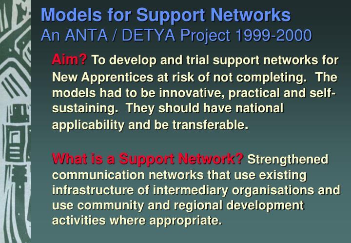 Models for Support Networks