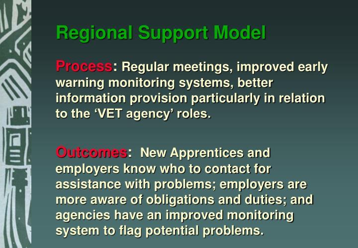 Regional Support Model