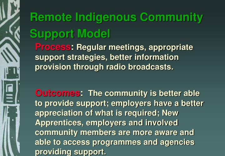 Remote Indigenous Community