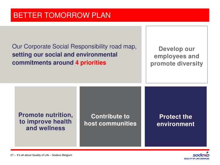 BETTER TOMORROW PLAN