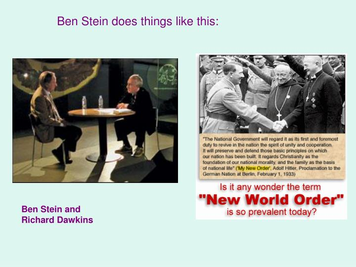 Ben Stein does things like this: