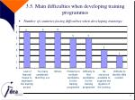 3 5 main difficulties when developing training programmes