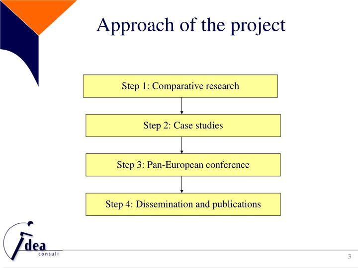 Approach of the project
