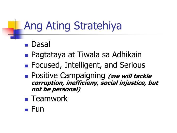 Ang Ating Stratehiya