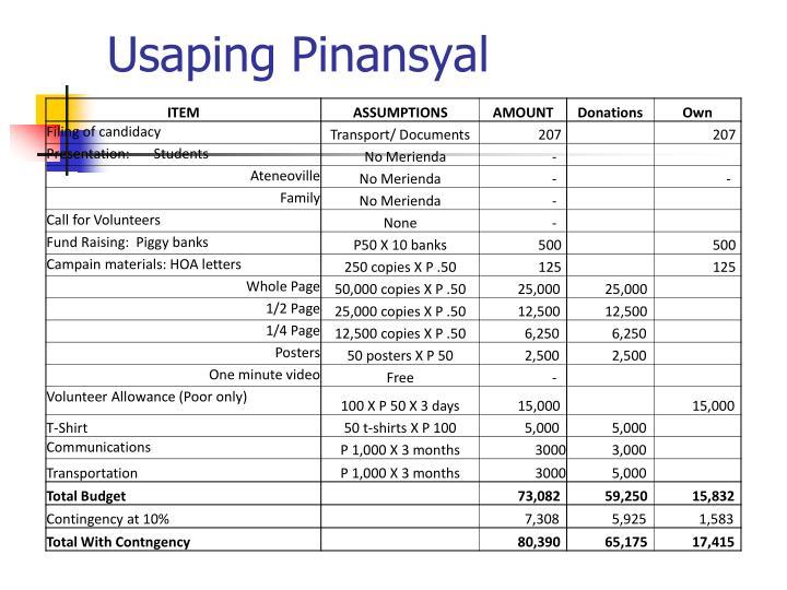 Usaping Pinansyal