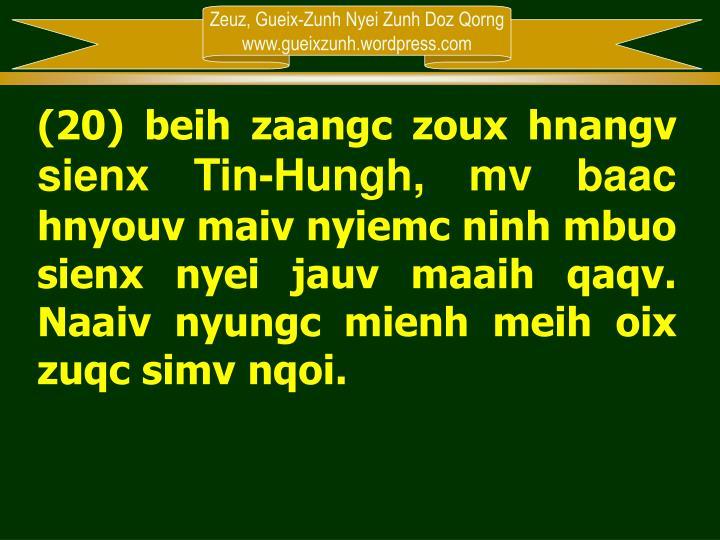 (20) beih zaangc zoux hnangv