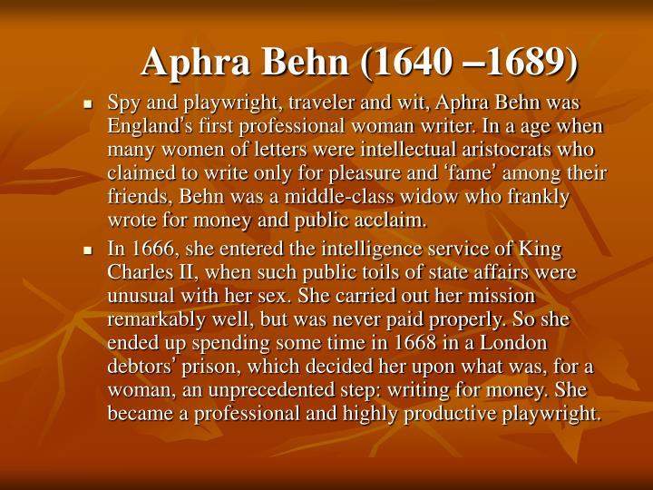 Aphra Behn (1640