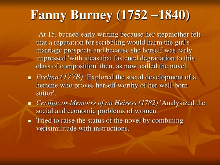 Fanny Burney (1752