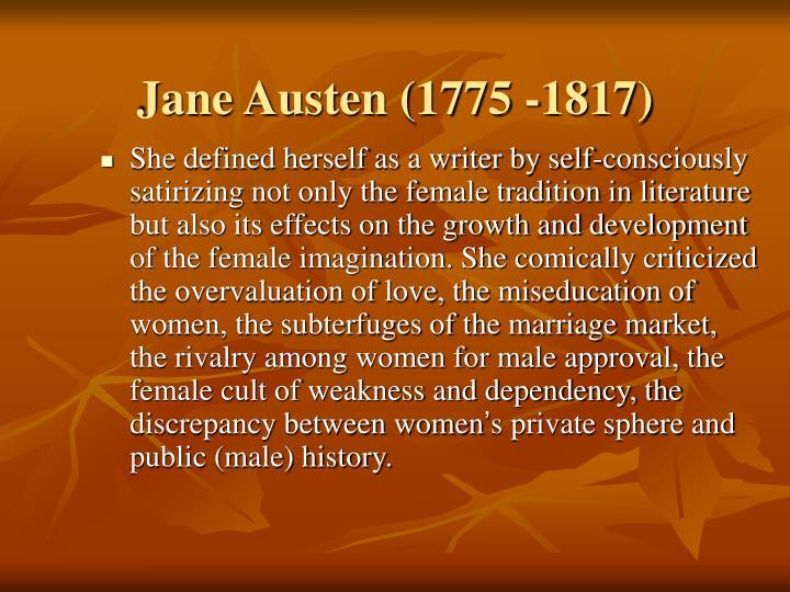 Jane Austen (1775 -1817)