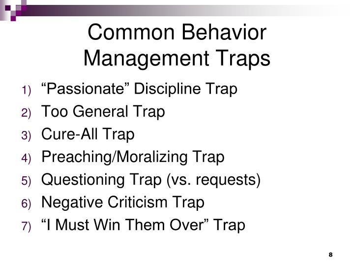Common Behavior Management Traps