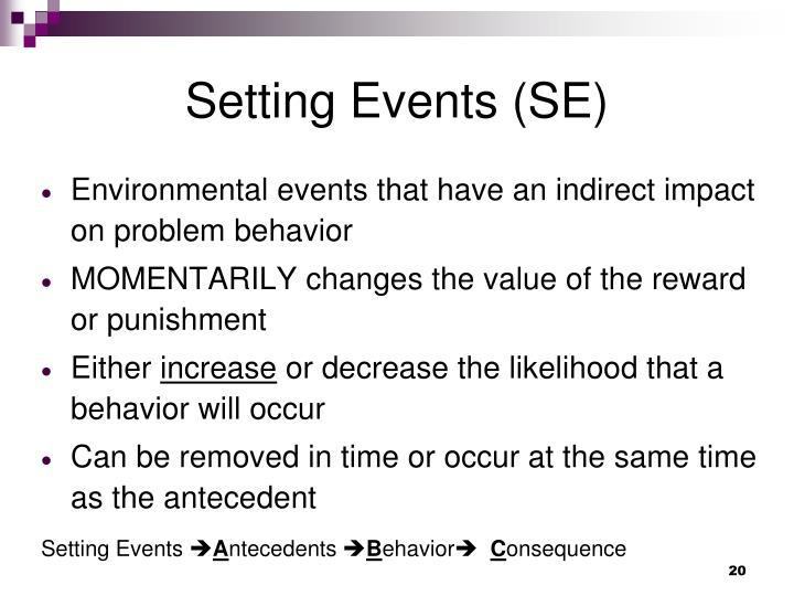 Setting Events (SE)