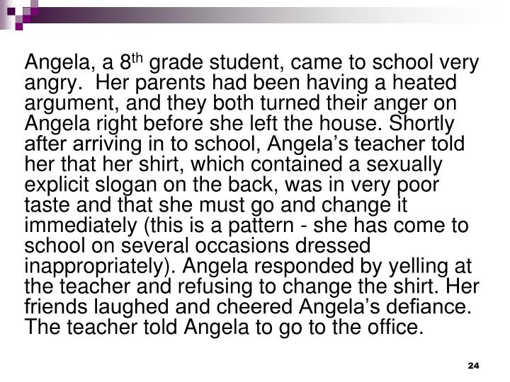 Angela, a 8