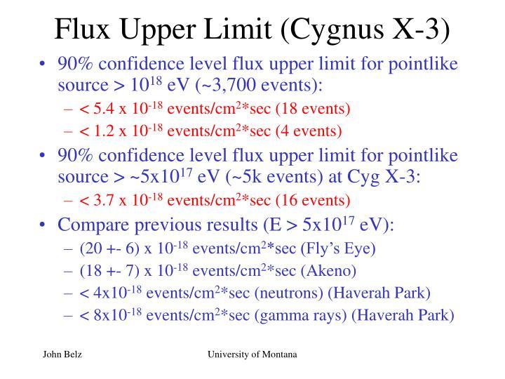 Flux Upper Limit (Cygnus X-3)