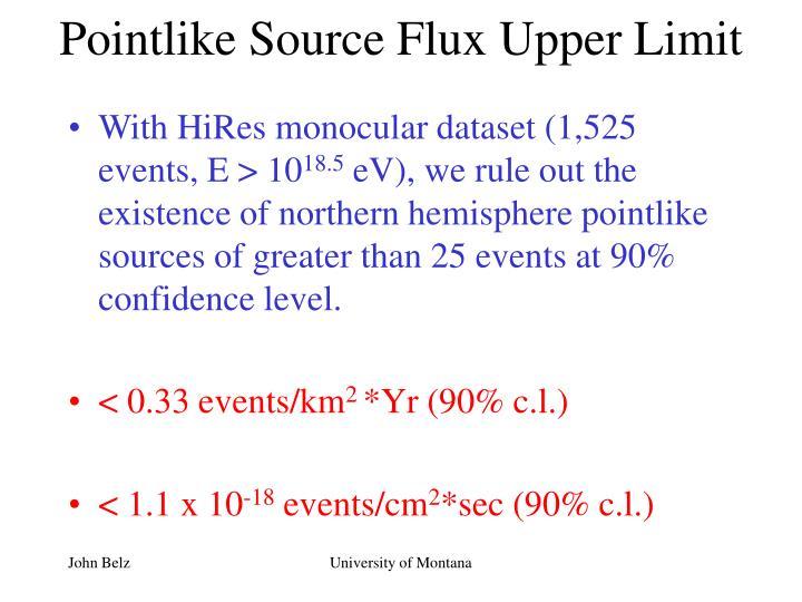 Pointlike Source Flux Upper Limit
