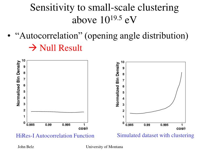 Sensitivity to small-scale clustering above 10