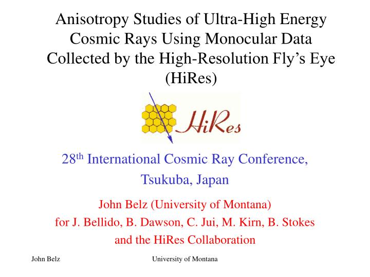 Anisotropy Studies of Ultra-High Energy Cosmic Rays Using Monocular Data Collected by the High-Resol...