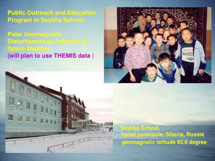 Public Outreach and Education Program in Seykha School: