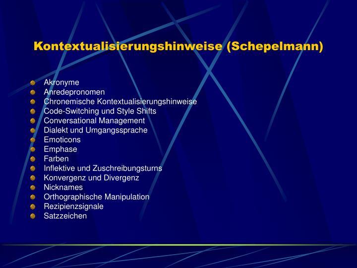 Kontextualisierungshinweise (Schepelmann)