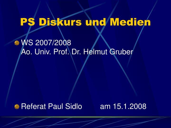 PS Diskurs und Medien