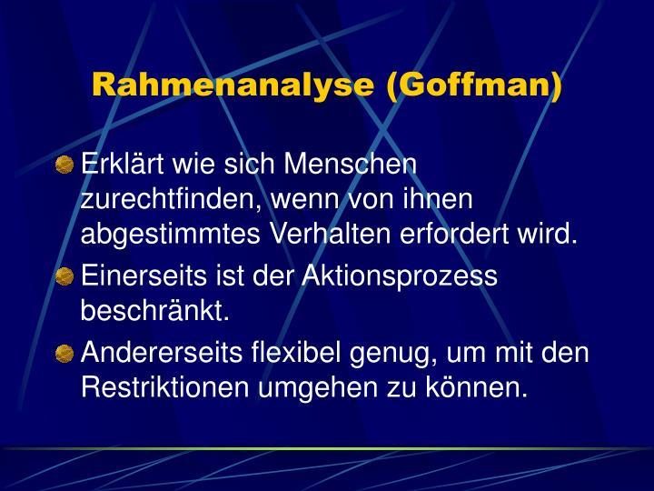 Rahmenanalyse (Goffman)