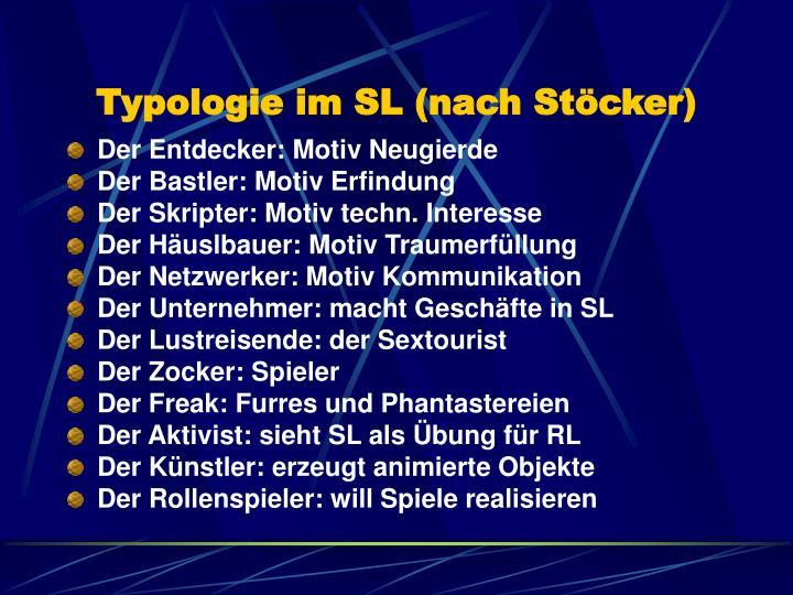 Typologie im SL (nach Stöcker)