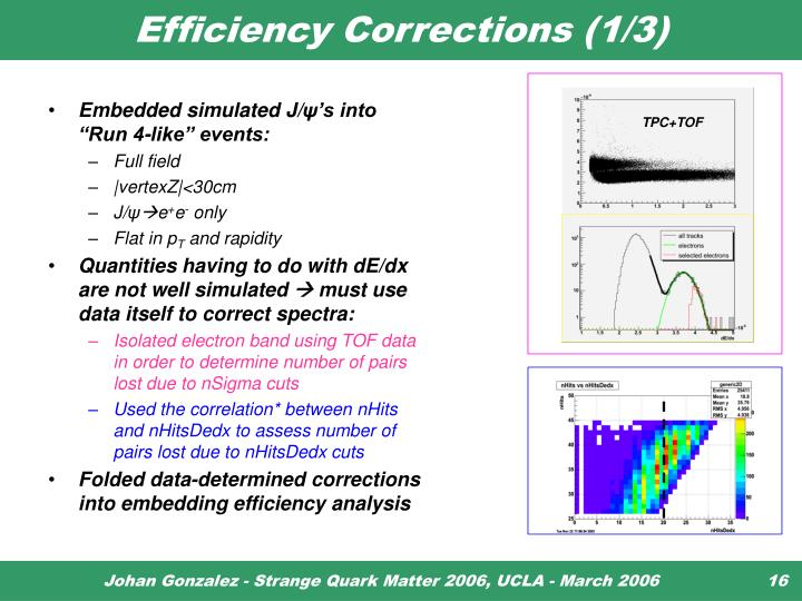 Efficiency Corrections (1/3)