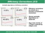 efficiency corrections 2 3