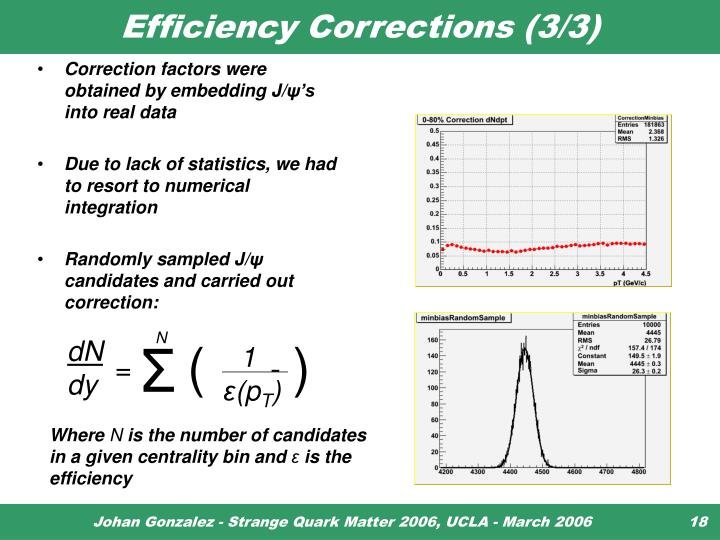 Efficiency Corrections (3/3)