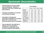 systematic uncertainties