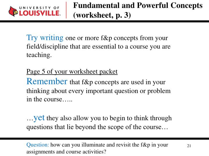 Fundamental and Powerful Concepts (worksheet, p. 3)