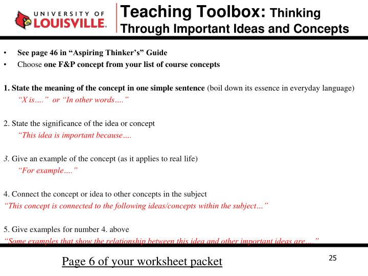 Teaching Toolbox: