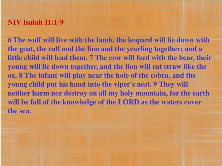 NIV Isaiah 11:1-9