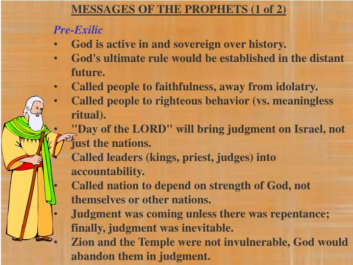 MESSAGES OF THE PROPHETS (1 of 2)