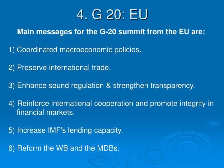 4. G 20: EU