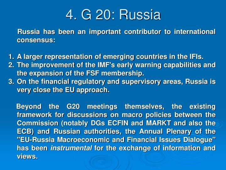 4. G 20: Russia