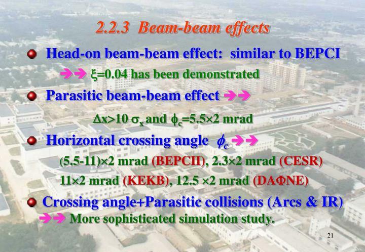 2.2.3  Beam-beam effects