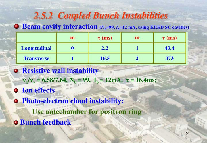 2.5.2  Coupled Bunch Instabilities