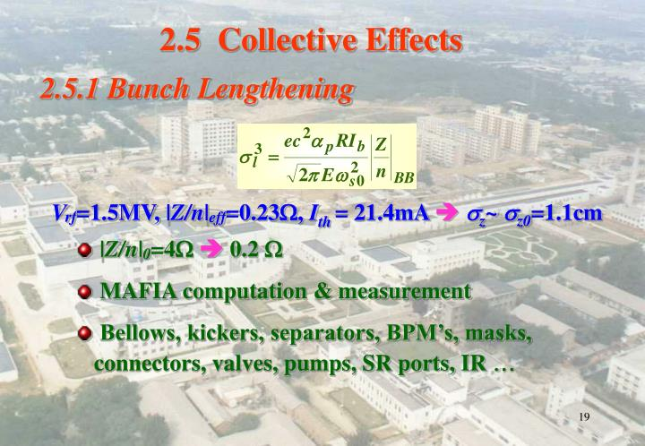 2.5  Collective Effects