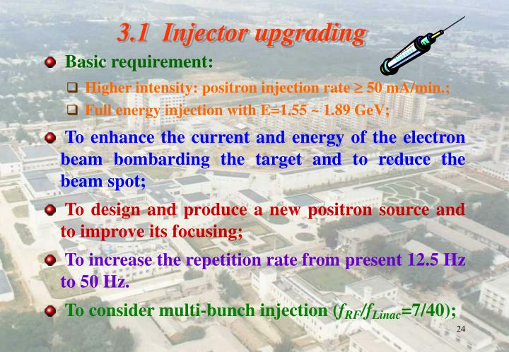 3.1  Injector upgrading