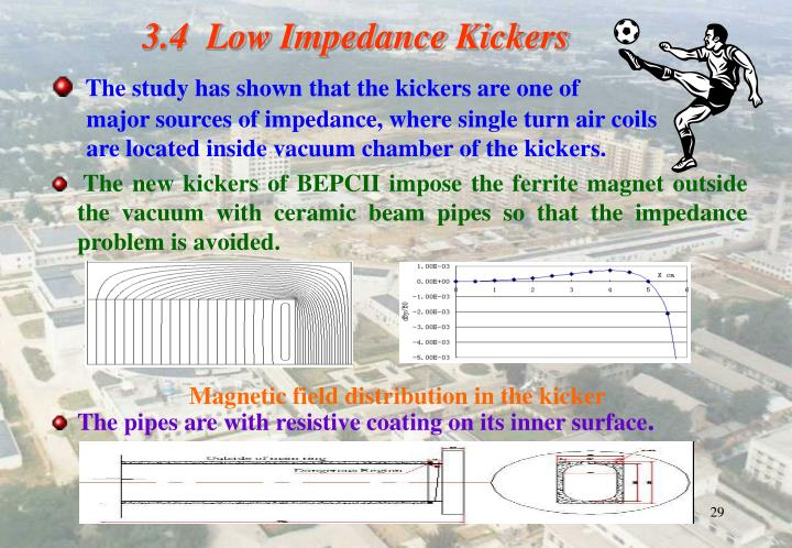 Magnetic field distribution in the kicker