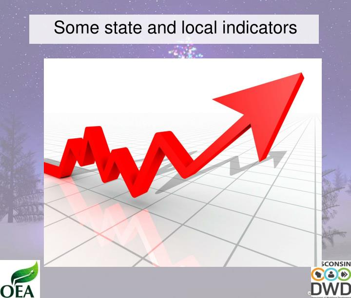 Some state and local indicators