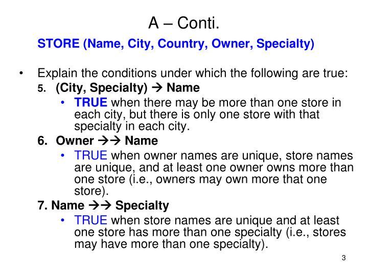 A – Conti.