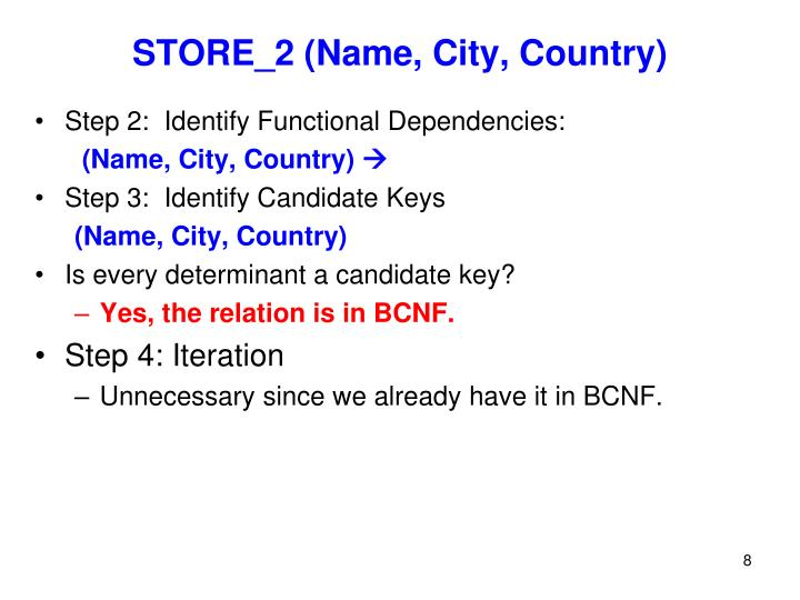 STORE_2 (Name, City, Country)