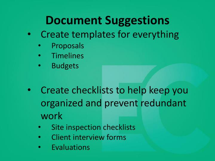 Document Suggestions