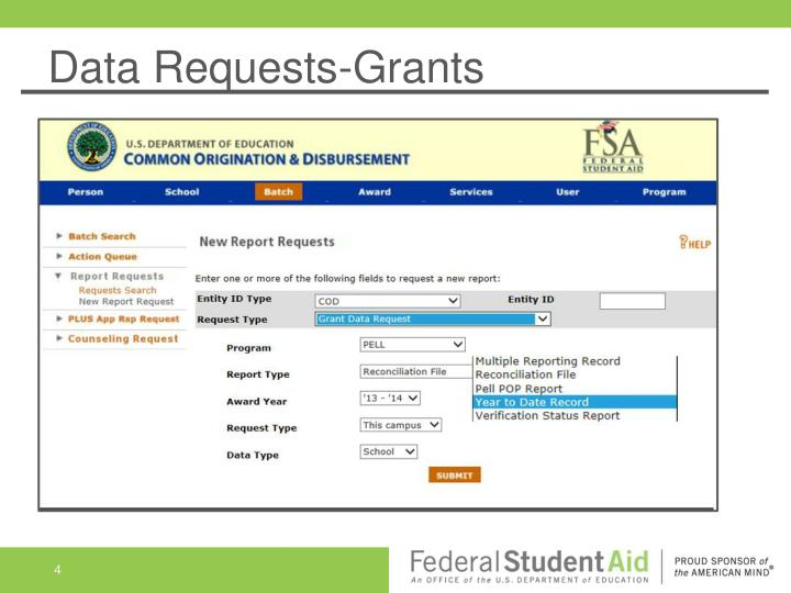 Data Requests-Grants