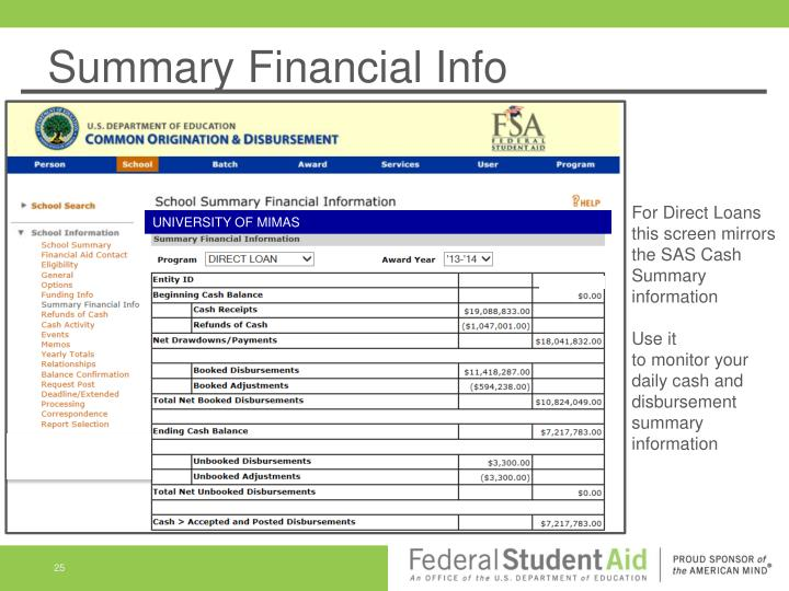 Summary Financial Info