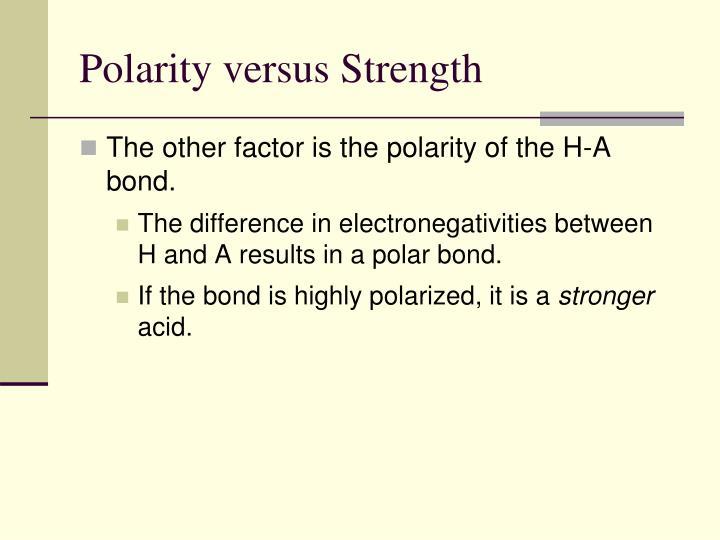 Polarity versus Strength