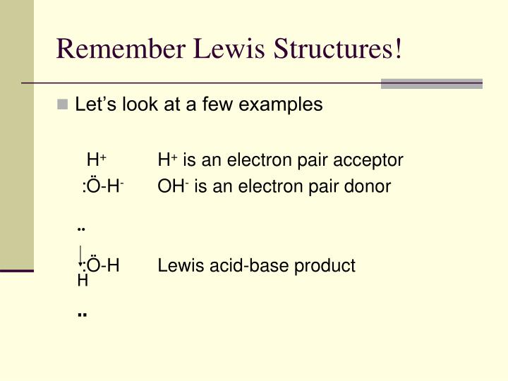 Remember Lewis Structures!